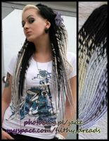 astrid in her synthetic dreads by FilthyDreads