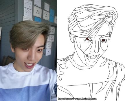 DongWoo ~.~ | can you save me *and my artwork* by 06-06pm
