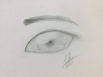 Realistic Eye Sketch by PastelBreeze14
