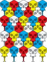 Forked tongue skull tessellation by Hop41