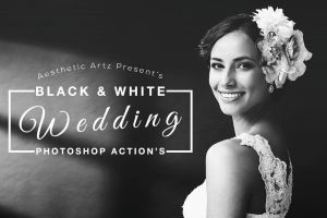 Free Aesthetic Black And White Photoshop Actions by AestheticArtz