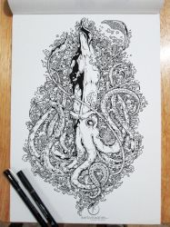COMMISSIONED WORK: Architeuthis by kerbyrosanes