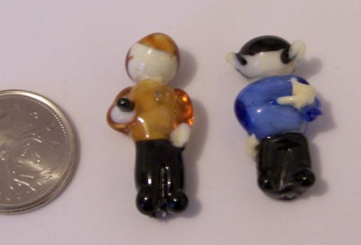 Kirk and Spock beads by jo-the-phoenix