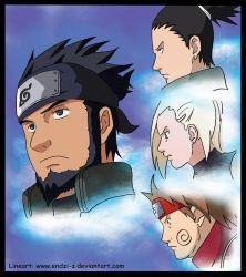 Team Asuma Lineart Color by l3xxybaby