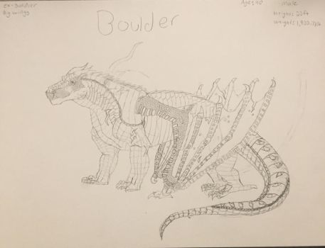 New OC: boulder  by Ghostray567