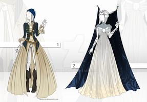 (CLOSED) Adoptable Outfit Auction 18 - 19 by JawitReen