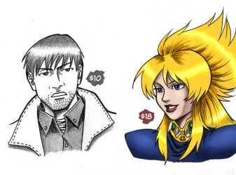 Anime Portraits - with prices! by Omaik