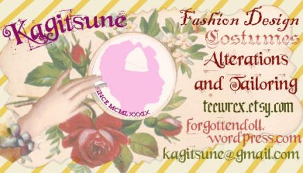 Victorian-Style Calling Card by Kagitsune