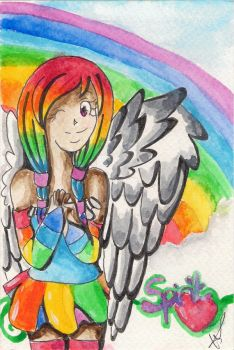 Watercolour rainbow :D by ice-feather