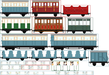 Narrow Gauge Carriages by Princess-Muffins