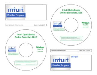 Quickbooks Online Disc CD Label Template by 1980something