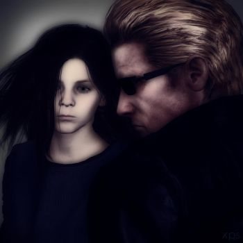 Eveline and Wesker Ultimate Control and Combat by Hatredboy