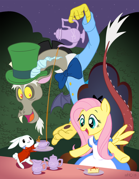 Fluttershy's Unbirthday Tea Party by empty-10
