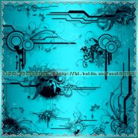 floral frame brushes6 by coolwing