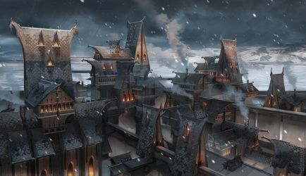 Winter city by sheer-madness