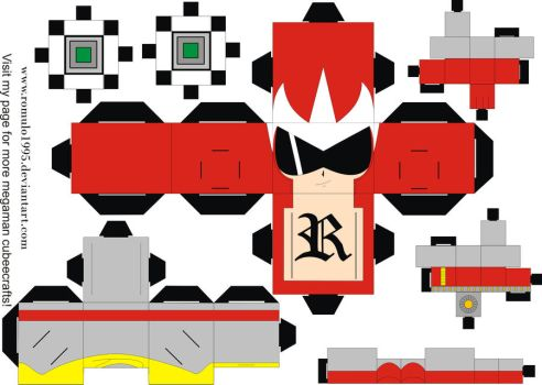 Protoman Cubeecraft template by romulo1995
