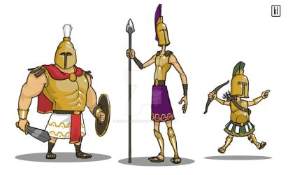 Spartans Character Design by KevinLamConcepts