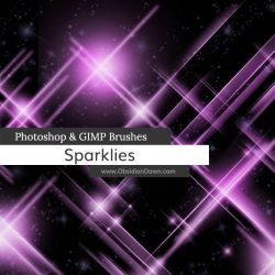 Sparklies Photoshop and GIMP Brushes by redheadstock