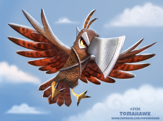 Daily Paint 2136. Tomahawk by Cryptid-Creations