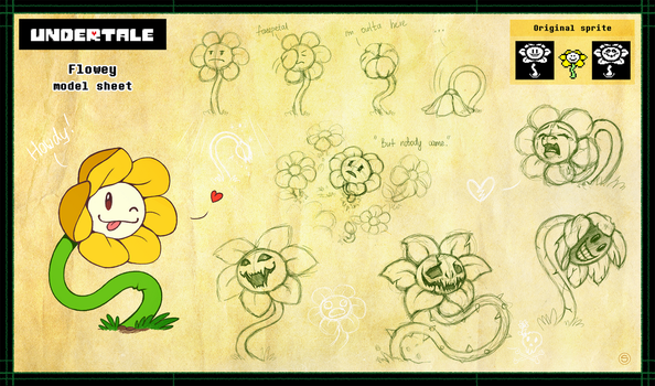 Flowey model sheet by StasySolitude