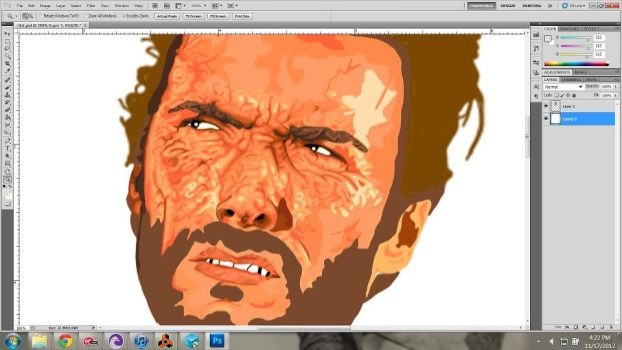 Clint Unfinished by kittypizzadude