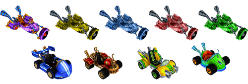 CNK Karts (MKWii) by izzyvicious