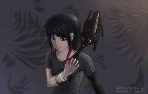 Violet and Midnight Redraw by AoArchangel