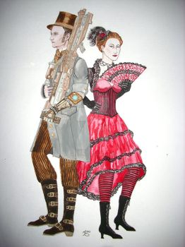 Gentleman adventurer and Cancan dancer
