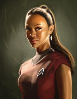 Zoe Saldana Star Trek by farooky