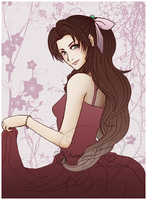 FF7-Aerith Gainsborough Pink by SlumberPoppy