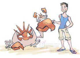 Justin's Water Pokemon - Krabby and Kingler