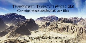 Terragen Terrain Pack 03 by Regulus36