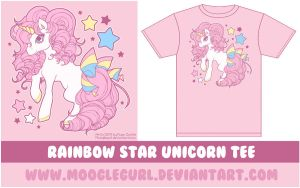 Rainbow Star Unicorn Tee by MoogleGurl