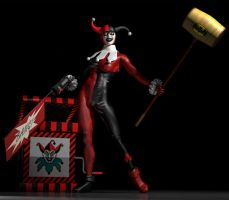 Harley Quinn classic 2nd skin textures for V4 by hiram67