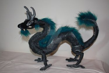 OOAK Japanese Dragon Poseable Soft Sculpture by DragonForge311088