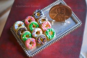 Assorted Donuts 1:12 Scale by TheMiniatureBazaar