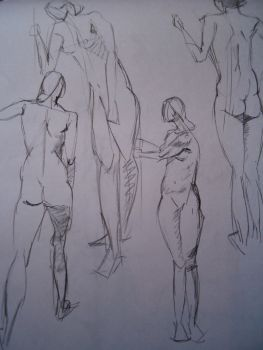 Gesture Sketches by Jeremybrett