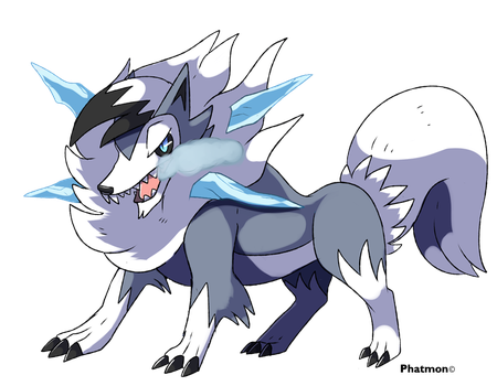 Lycanroc (Winter Forme) by Phatmon