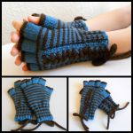Lace-Up Striped Gloves by StrangeKnits