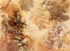 Steampunk Wallpaper II by SpaceTurtleStudios