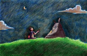 Talking with Totoro by fdrawer