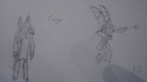 Forge rough sketch by Thudd224
