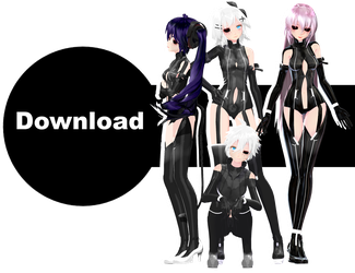 TDA Ghoul Len, Rin, Neru and Luka Download by Ohbey