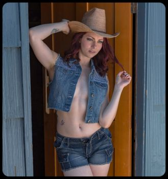 Cowgirl Cowboy by spitting-to-windward
