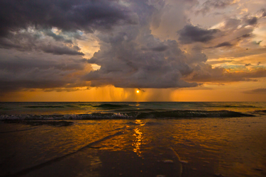 Pouring Down SunSet by sage666ART