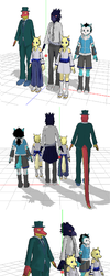 Rou and his pal (mmd version) by Dragonx347