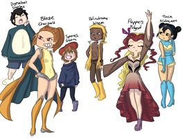 FireRed Nuzlocke Gijinkas (UPDATED)!!! by MeowMix72