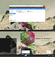 Cleaner  Theme for Windows 7 by Cleodesktop