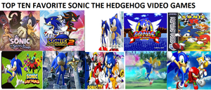 My Favorite Top 10 Sonic Games by SmoothCriminalGirl16