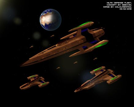 Comissioned: Nilan Defense Fleet by Colourbrand